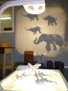 Last week we re-introduced the children to working with OHP's (overhead projectors) along with light box tables, with which they ar...