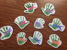 Teenage Mutant Ninja Turtle preschool handprint project (: