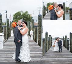 Downtown Docks Annapolis Wedding Photographer Carla Lutz Photography Port Annapolis Red Navy Orange Maryland Crab Nautical Wedding