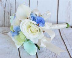 Mint and Blue Bouquet