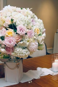 hydrangeas with roses how beautiful