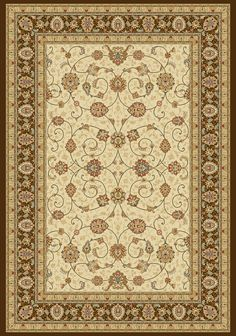 Ancient Garden Ivory/Chocolate Area Rug