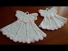 Uncinetto Crochet Centrino Bianco Rosso Presina - YouTube
