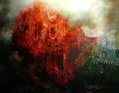 Biomorphic Paintings by Nicole Duennebier