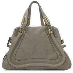 Chloe - Bags - Paraty Medium Shoulder Bag - Greige