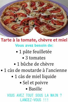 Quiches, Pizza, Tomato Pie, Mustard, Basil, Pies, Tart, Tarts
