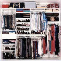 reach-in organized closet