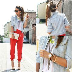 Skinny jeans & blazer