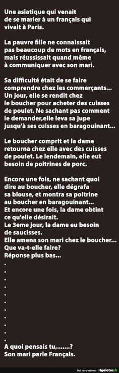 Une asiatique qui venait de se marier à un français qui vivait à Paris... - RIGOLOTES.fr