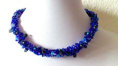 JuniBlau Halskette Collier blau Glasperlen von Kreativ-Werkstatt-Heidi-H. auf DaWanda.com