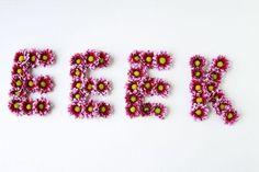 Manualidades para bodas: Letras con flores
