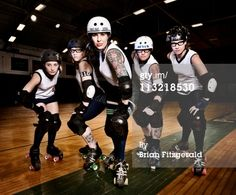 High-Res Stock Photography: Maine Roller Derby Team Portraits