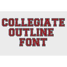 collegiate outline font