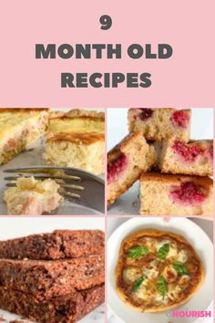 Easy 9 Month Old Recipe Ideas For Your Baby! #babyfood #babyrecipe #babyfoodideas #startingsolids #babynutrition Homemade Baby Puree Recipes, Baby Recipes, Pureed Food Recipes, Old Recipes, Dinner Recipes, Recipe For 6, Recipe Ideas, Lunches And Dinners, Meals