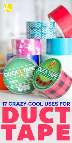 I'm a firm believer that duct tape can literally fix anything. I have plenty of rolls stashed around the house for whenever an emergency comes up. Take a look at these uses for duct tape you've nev. Diy Projects For Teens, Diy For Teens, Crafts For Teens, Diy Crafts To Sell, Fun Crafts, Creative Crafts, Duct Tape Projects, Duck Tape Crafts, Duct Tape Flowers