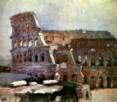 Vasily Ivanovich Surikov (1848-1916) Colosseum, 1884 Acquarello