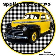 strijkapplicatie yello cab taxi