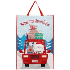 Fill up with Christmas shopping this festive period with one of these re-usable bags. 4 designs are available with Santa Claus the main feature of each one