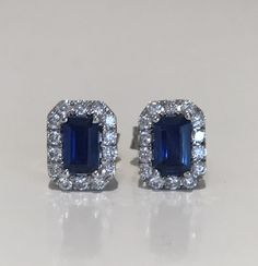 Sapphire & Diamond Earrings 18k £380