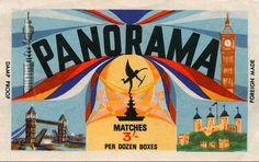 british match box cover
