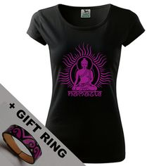 Women's Buddha shirtgift Eco-friendly printedYoga by DrasiShop