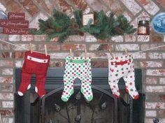 Cute baby Christmas stocking idea