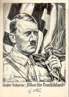 Weihnachtskarte mit Hitlerporträt 1940