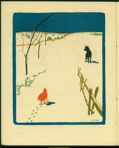 usmspcol:  An illustration From a Spanish Little Red Riding Hood...