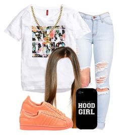 . by trillest-queen on Polyvore featuring polyvore, fashion, style, H&M, adidas Originals, Chanel and Samsung