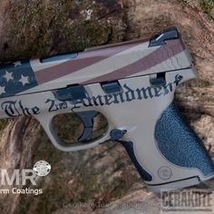 Mobile-optimized version of the project picture. Smith & Wesson, American Flag, Pistol, Crimson Socom Blue A. Camo Guns, Big Girl Toys, Guns And Ammo, Weapons Guns, Custom Guns, Smith Wesson, American Flag, Patriotic Crafts, Patriotic Party