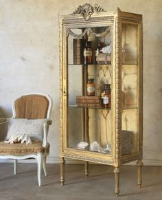 French vintage display case
