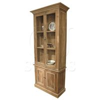 Pine 4 Door Distressed Bookcase-Click for Larger Picture