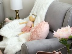 Pink and gray nursin