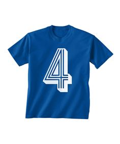 Look at this Royal Number '4' Birthday Tee - Toddler & Boys on #zulily today!
