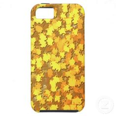 iPhone 5 Gold Fall Leaves iPhone 5 Case #zazzle #camouflage #camo #leaves