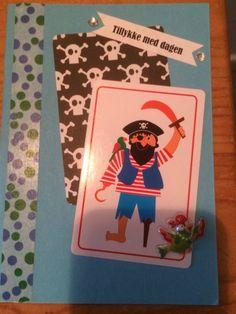 Kort / card Dreng / boy Sørøver / pirate Hjemmelavet / homemade Washi tape