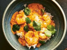 Röd thaicurry med heta räkor Pak Choi, Thai Recipes, Fish And Seafood, Wok, Cauliflower, Curry, Food Porn, Vegetables, Chinese