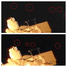 Fleet Of UFOs Fly Past The Space Station, NASA Still Has Not Made Any Comment About It. Date of sighting: February 28, 2013 Location of sighting: Earths Orbit, at International Space Station