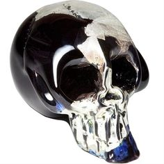 Mercury Glass Skull Paperweight