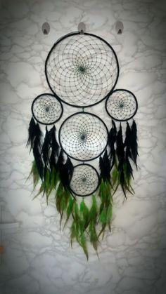 Black-green dreamcatcher my creation :)