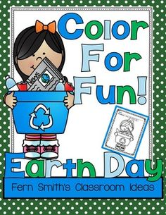 #FREE Printable in Download - Earth Day Fun! Color For Fun Printable Coloring Pages {28 coloring pages equals less than 11 cents a page.} #TPT #EarthDay #ColorForFun #Printables #Spring $Paid