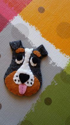 Keçe Magnet Köpek Figürü