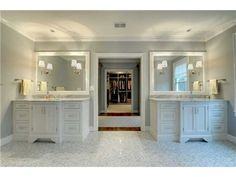 Love the seperate double sinks and vanity area dream home pinterest see best ideas about Tile in master bedroom closet