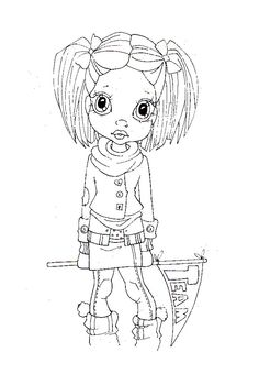 147 Cute Coloring Pages, Adult Coloring Pages, Coloring Pages For Kids, Coloring Books, Colorful Drawings, Colorful Pictures, Digital Stamps Free, Copics, Prismacolor