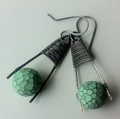Polymer clay bead and silver by anikosandor, via Flickr
