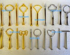 5 x 2 tier Cake Stand Fittings HEAVY Handles for DIY - You choose colour and style