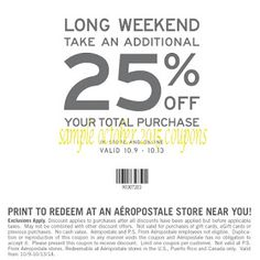 Aeropostale Coupons Ends of Coupon Promo Codes MAY 2020 ! Free Printable Coupons, Free Printables, Long Weekend, Aeropostale, Hot, November 2015, Free Printable