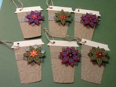 Coffee Christmas tags using Love you a Latte Cricut Cartridge.
