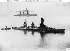 IJN Battleships Yamashiro , Fuso and Hanura