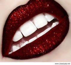 Black+Glitter+Lips | Glitter red lips